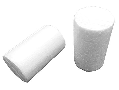 Dandan DIY 10pcs Smooth Foam Cylinder Shaped Foam Craft Making Foam Ball Home Wedding Decor DIY Supply (4X10CM/1.6''X4'')
