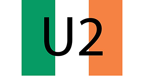 magFlags Bandera Large U2 Ireland | Ireland Defaced with The Text U2 | Bandera Paisaje | 1.35m² | 100x130cm: Amazon.es: Jardín