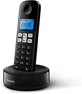 Philips D1611B/34 - Teléfono Fijo Inalámbrico (Retroiluminación, HQ-Sound, hasta 4 Microteléfonos, Agenda 50 números, Consumo reducido Eco, Identificador de Llamadas, Alcance 50m-300m) Negro: Amazon.es: Electrónica