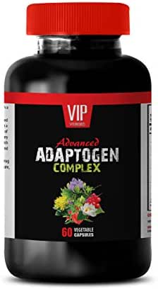 Heart Support Supplement - Advanced ADAPTOGEN Complex - ashwagandha and rhodiola Combination - 1 Bottle 60 Vegetable Capsules