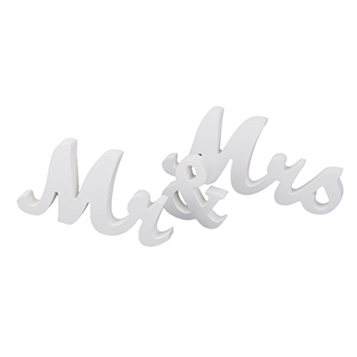 magideal mr mrs white wooden letters wedding standing sign decor