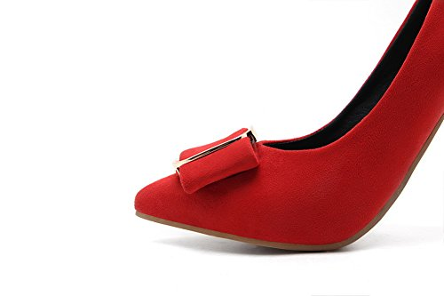 Pumps Pull Pointed Red Odomolor High Solid 41 Women's shoes Frosted toe on heels qwxzExS