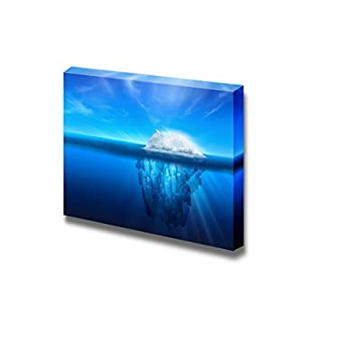 A Polar Bear on Top of a Natural Iceberg Glacier on The North Atlantic - Canvas Art Wall Art - 12