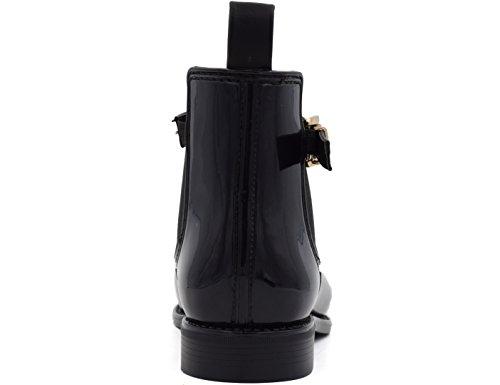 Rain Womens Boots Short Shoes Rubber Chelsea Black Ankle MaxMuXun w7Y6Hxqq