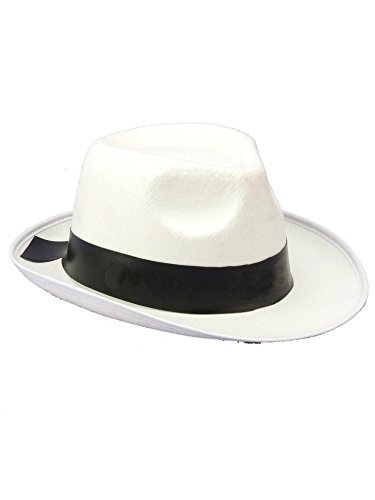 Forum Novelties White Gangster Hat