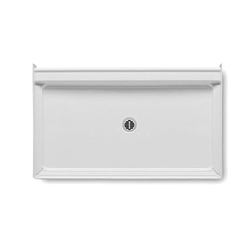 "well-wreapped Aquatic 727149841621 Single Threshold Center Drain Shower Base, 34"" x 60"" x 6"", White"