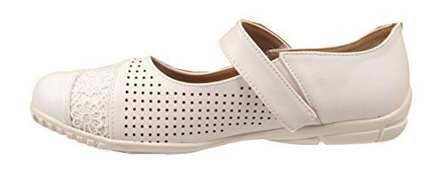 Womens Ladies Flat Ballet Heel Court Shoes Office Big Plus Large Size Sandals UK White pxfqa