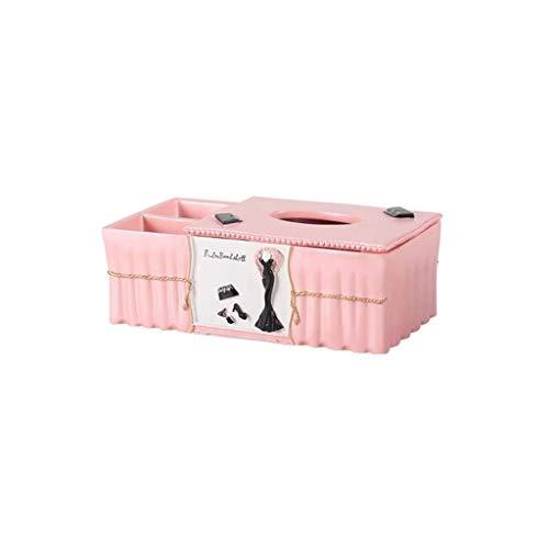 (HEMFV Fashion Multi-Function Storage Tissue Box Cute Desktop Remote Control Tray)