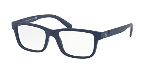 Polo Ralph Lauren PH 2176 5620 Matte Blue Plastic Rectangle Eyeglasses ()
