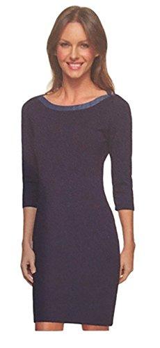 (Tommy Hilfiger Ladies Nautical Scoop Neck 3/4 Sleeve Jersey Dress)