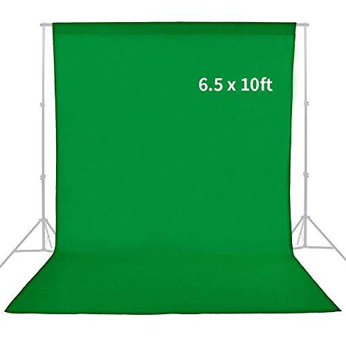 MountDog Professional Green Screen Sheet Muslin Backdrop 6.5ft x 10ft Studio Photography...