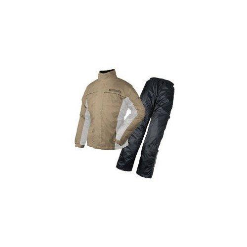 ROUGH ROAD dual Tex BIB rain suit separate bike LIGHTBROWN M RR7806BR2