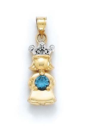 """Brut 14 carats avec diamant et topaze bleue-Améthyste-Princesse-JewelryWeb 1 """""""