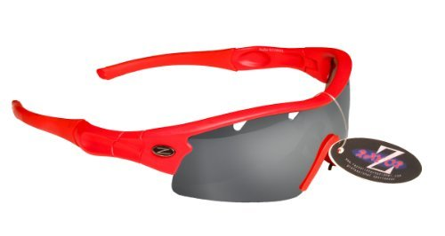 Rayzor ciclismo con ahumada pieza Lente con 1 antideslumbrante Gafas rojas un sol de ventilación Deportes profesionales espejo UV400 ligeros Wrap con 6qw6rY