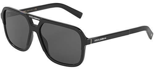 (Dolce & Gabbana Men's DG4354 Black/Grey One Size)