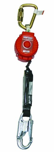 Honeywell MFL-1/6FT Miller TurboLite Personal Fall Limiter with Steel Twist-Lock Carabiner Unit Connector and Locking Snap Hook End Connector ()
