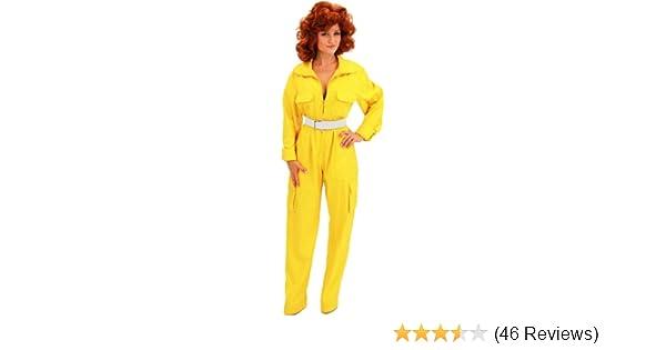 Teenage Mutant Ninja Turtles April O Neil Yellow Ladies Costume Jumpsuit