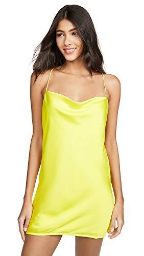 For Love & Lemons Women's Meringue Mini Dress, Neon Lime, Small -