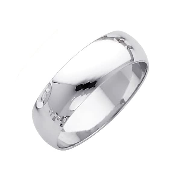 Wellingsale-Mens-14k-Yellow-OR-White-Gold-Solid-6mm-CLASSIC-FIT-Traditional-Wedding-Band-Ring