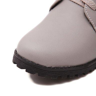 LFNLYX Mujer-Tacón Bajo-Botines / Botas a la Moda-Botas-Exterior / Oficina y Trabajo / Casual-Semicuero-Negro / Amarillo / Gris Yellow