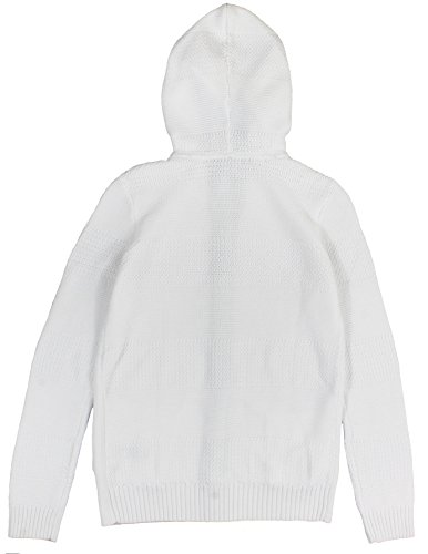 Tommy Hilfiger Women's Hooded Knit Cardigan Sweater Large Bright White
