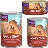 Halo Spot's Stew for Dogs Wholesome Beef Recipe Canned Dog Food (12/13-oz Cans), My Pet Supplies