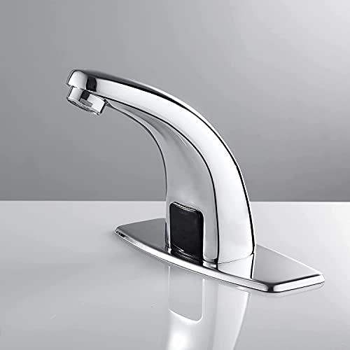 Gangang Berührungsloser Wasserhahn,Hochwertig Infrarot Sensor Kaltwasser Wasserhahn,Automatik Waschtischarmatur Wasserfall Waschbecken Armatur für Badzimmer,nur Gleichstrom