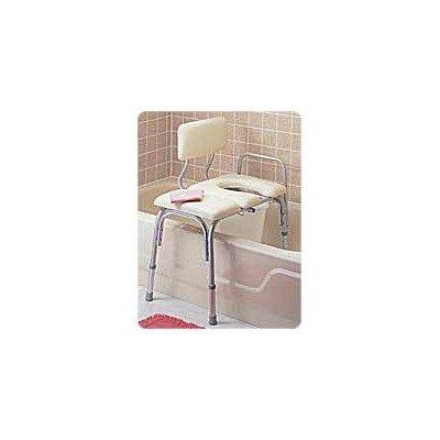 RMB15211EA - Vinyl Padded Bathtub Transfer Bench w/Cut Out,Pail