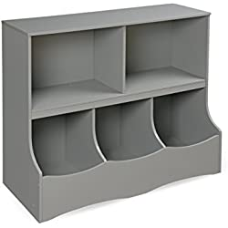 Badger Basket Multi-Bin Storage Cubby, Gray
