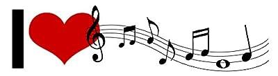 i Love Music Note STICKER DECAL VINYL BUMPER Hobby Cool Gift DÉCOR CAR TRUCK LOCKER WINDOW WALL NOTEBOOK