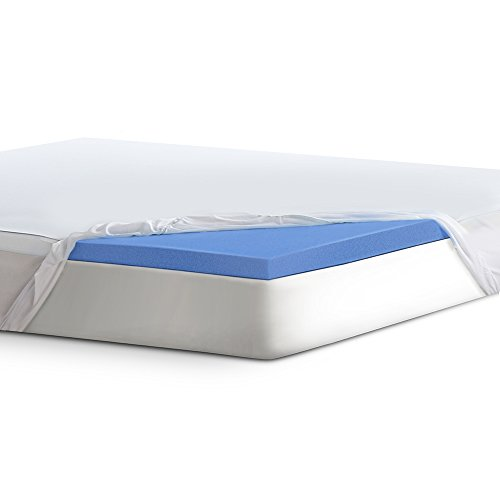 Serta Lasting Dream Gel-Infused Memory Foam 2 '' Mattress Topper, Queen by Serta