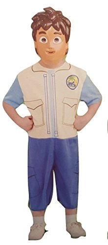 Rubie's Go Diego Go! Complete Costume Set with mask for Small Child Size 4-6 (Nick Jr Halloween Costumes)