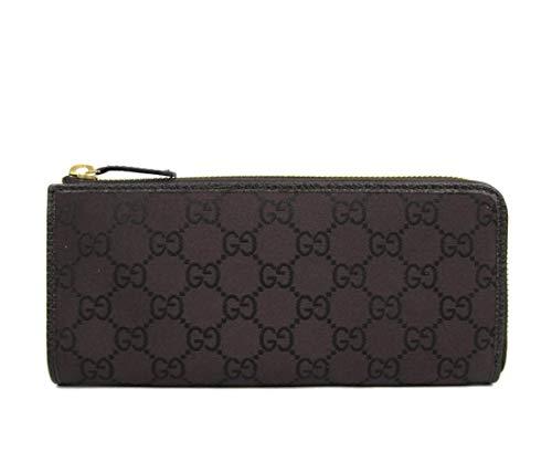 Gucci Women's Brown Monogram GG Nylon Zip Around Wallet 268917 2066