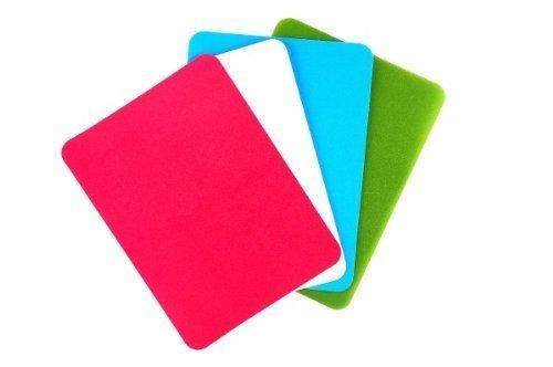 Flexible Schneidbretter in verschiedenen Farben, 4 Stck. im Set, messerschonend u lebensmittelecht