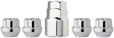 DPAccessories LOB2L8HC-CH04LK4 クロムホイールロック 14x1.5 オープンエンド バルジ ドングリ 19mm & 13/16インチ ロックラグナット ホイールロックセット