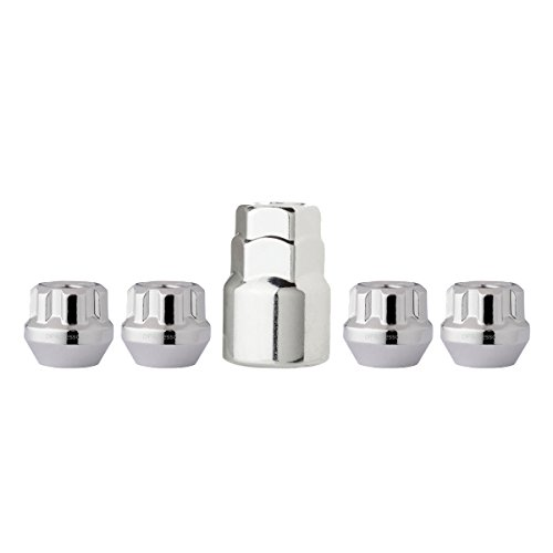 DPAccessories LOB2L6HC-CH04LK4 Chrome Wheel Locks 12x1.5 Open End Bulge Acorn 19mm & 13/16