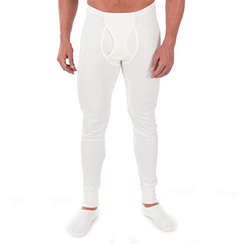 Cottonique Hypoallergenic Mens Thermal Pajama Made from 100% Organic Cotton