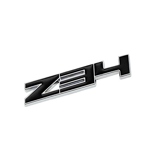 UrMarketOutlet Z34 Black/Chrome Aluminum Alloy Auto Trunk Door Fender Bumper Badge Decal Emblem Adhesive Tape Sticker