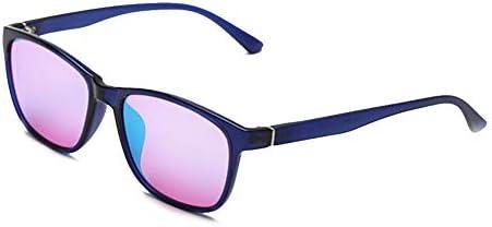 赤と緑の色覚異常メガネ、アンチブルーライトの色覚異常補正レンズ、紫の樹脂男性と女性用の色強調スペクトルフィルター