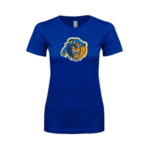 UC Riverside Next Level Ladies Softstyle Junior Fitted Royal Tee 'Highlander Bear'