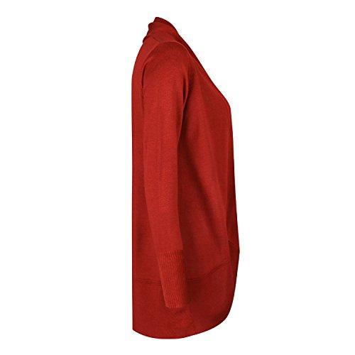 Femme Pull Cardigan Loose Longue Top Semen Manche Automne Orange Printemps Pullover Casual U5qvwOnd