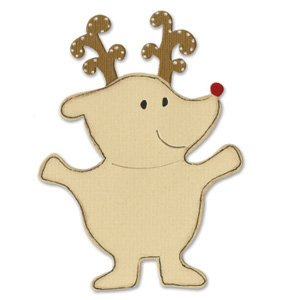 Ellison Sizzix Bigz BIGkick/Big Shot Die-Animal Dress-Ups Reindeer