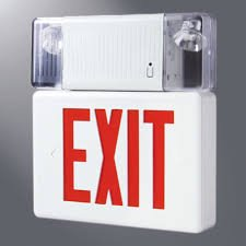 AtLite PC3-RU LED-Exit Sign Combo Light Unit White Housing 5.4 & AtLite PC3-RU LED-Exit Sign Combo Light Unit White Housing 5.4W ...