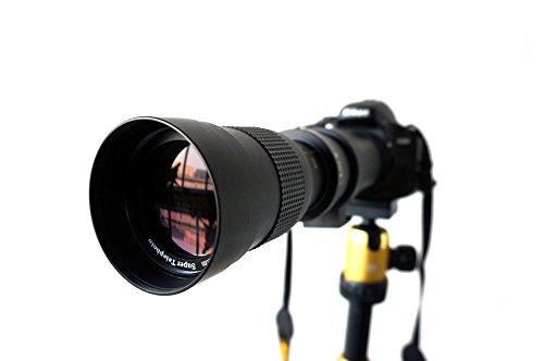 Lightdow 420-800mm F/8.3-16 Super Telephoto Manual Zoom Lens + T-Mount for Nikon DSLR by Lightdow