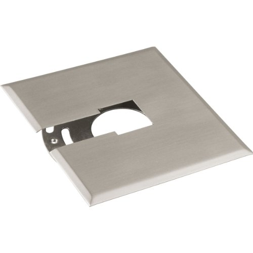 Progress Lighting P8753-09 Canopy Kit Flush Mount Mounting Plate Can Be Used Anywhere Along Track Slips Between Ceiling and Track, Brushed Nickel
