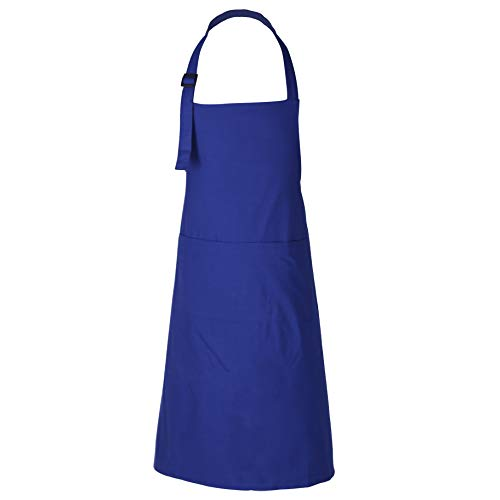 RAJRANG BRINGING RAJASTHAN TO YOU BBQ Cooking Apron - 100% Cotton Aprons with Adjustable Neck and Pockets for Restaurant - Navy Blue - 35 x 27 Inch