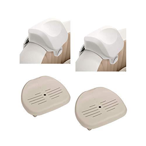 Intex 28505E PureSpa Foam Headrest (2 Pack) 28502E Hot Tub Seat (2 Pack)
