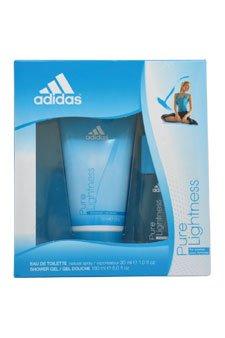 Adidas 2 Piece Gift Set, Pure Lightness (1 Ounce Eau de Toilette Spray, 5 Ounce Shower Gel) (Adidas Gift Set Body Wash)