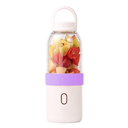 éLectrique Portable Centrifugeuse Fruits Et LéGumes Quickclean Nettoyage 200W Sans BPA Juicer Extracteur MéNage , purple