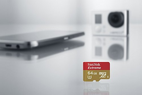 SanDisk Extreme 32GB microSDXC UHS-I Card with Adapter (SDSQXNE-032G-GN6MA) [Old Version] 3 Engineered for the latest Android based smartphones, tablets, action and MIL cameras Recommended by GoPro for use with Hero, Hero3+, Hero4, & HERO+ LCD. Shoot continuous burst mode, Full HD and 4K Ultra HD video, up to 90MB/s transfer speed